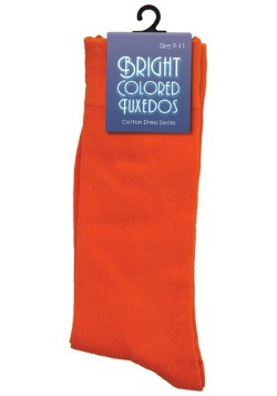 Bright Orange Dress Socks