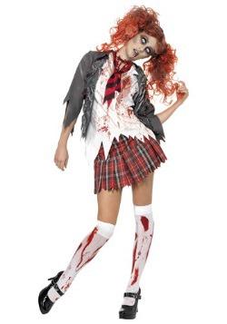 Women's School Girl Zombie Costume