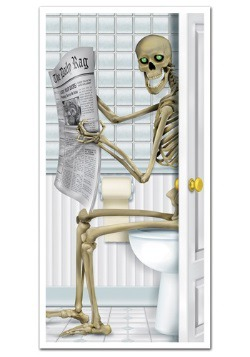 Toilet Skeleton Door Cover Halloween Decoration
