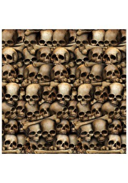 Halloween Decor Wall of Skulls Catacombs Backdrop