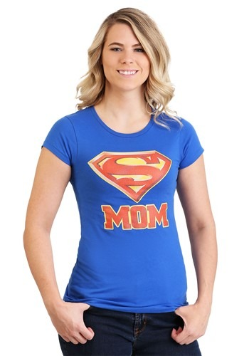 Womens Superman Super Mom T-Shirt