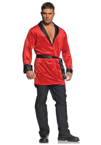 Men's Red Smoking Jacket