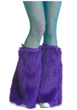 Women's Violet Furry Boot Covers