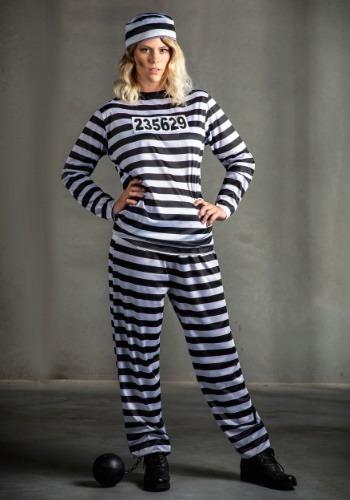 Womens Prisoner Plus Size Costume1
