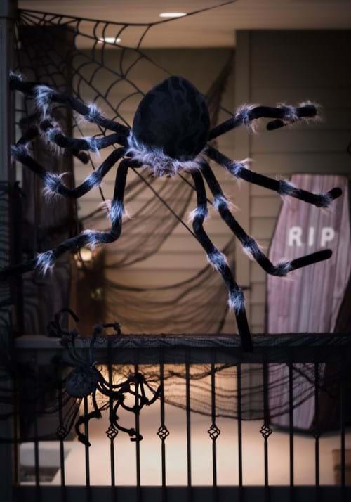 "Posable Black 50"" Spider"