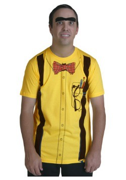 Men's Yellow Nerd Costume T-Shirt