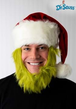 Mister Grinch Hat with Fur Beard