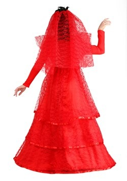 Women's Red Gothic Wedding Dress Alt 7