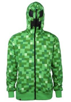 Adult Minecraft Creeper Hooded Sweatshirt