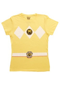 Womens Yellow Power Ranger TShirt