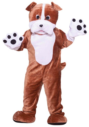 Plush Bulldog Mascot Adult Costume