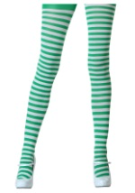 White / Kelly Green Tights
