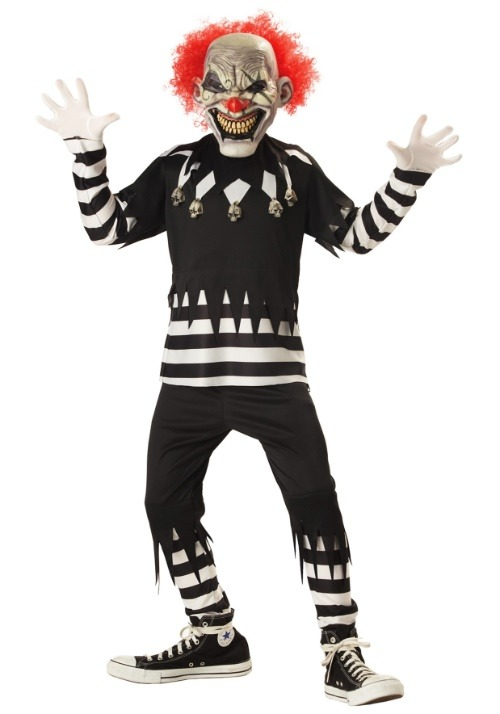 Psycho Clown Boy's Costume