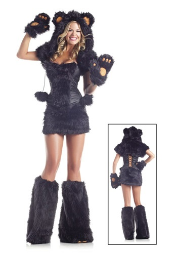 Women's 8 pc Deluxe Black Bear Costume
