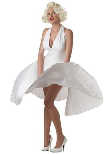 Deluxe White Marilyn Monroe Halter Dress