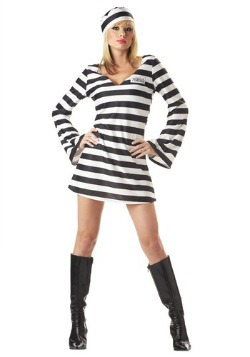 Women's Inmate Prisoner Costume