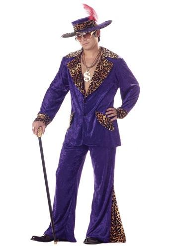 Men's Purple Pimp Costume