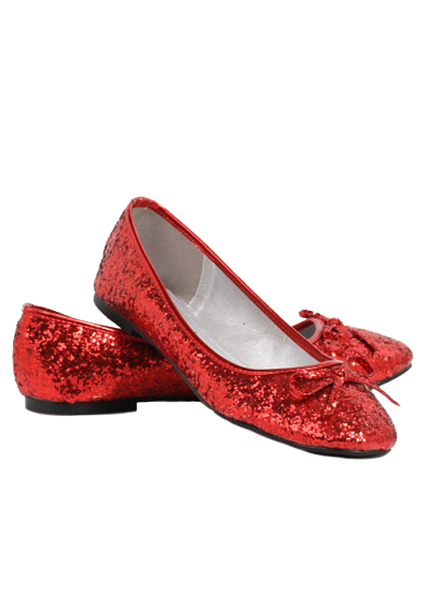 58bd1adbb332 Women s Red Glitter Flats