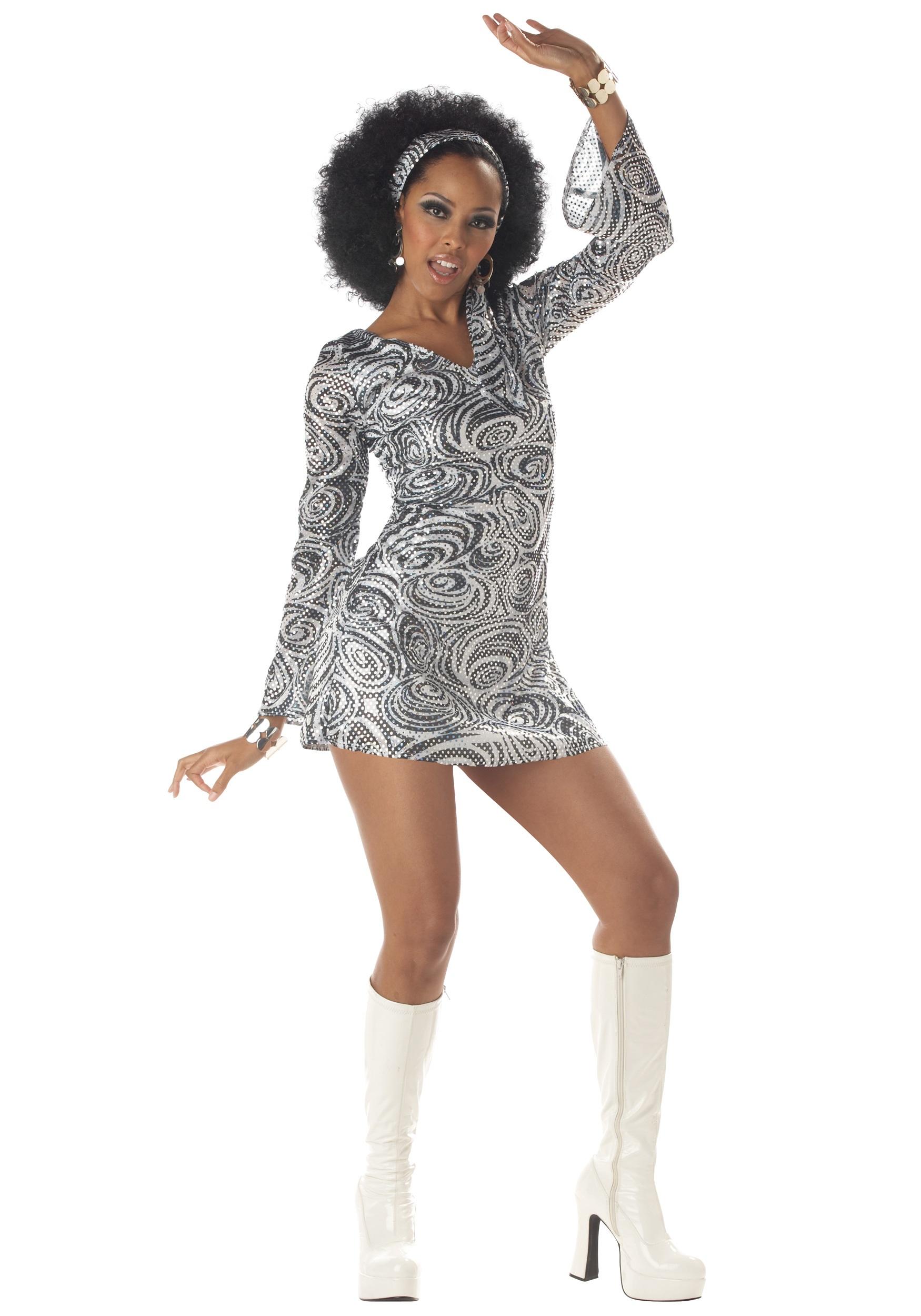 Sexy Disco Diva Dress Fancy Dress Costume