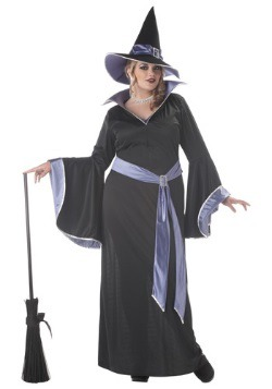 Womens Plus Size Glamour Witch Incantasia Costume