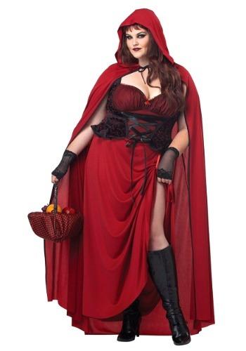 Dark Red Riding Hood Plus Size Women's Costume