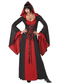 Women's Deluxe Hooded Vampire Robe