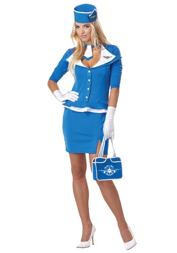 Sexy Retro Stewardess Womens Costume
