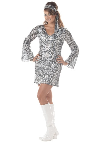 Women's Disco Diva Plus Size Dress Costume