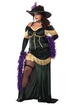 Womens Plus Size Saloon Madame Costume