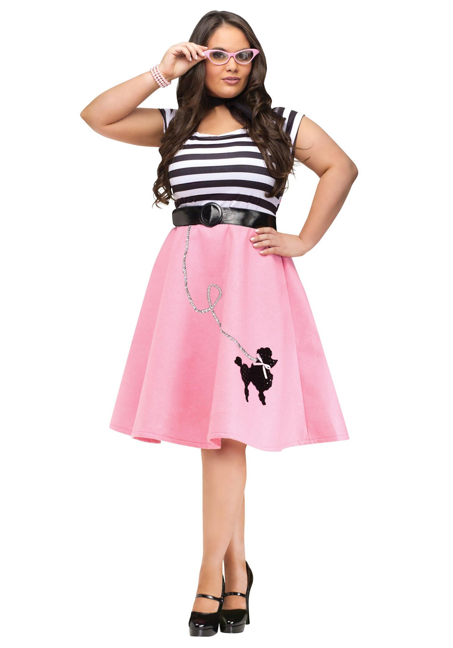60e9c4ffa07 Plus Size Women s Poodle Skirt Costume
