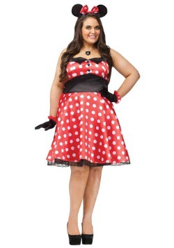Plus Size Retro Miss Mouse Women's Costume