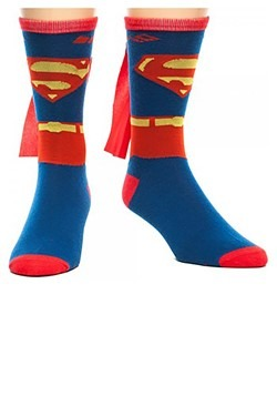 Superman Cape Crew Socks