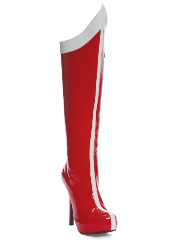 Red and White Superhero Boots For Adults
