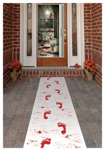Bloody Footprints Runner Halloween Decoration