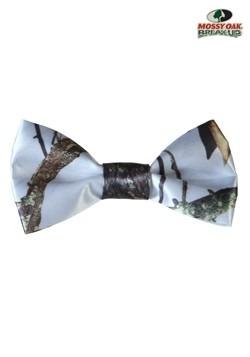 White Mossy Oak Pre-Tied Bow Tie