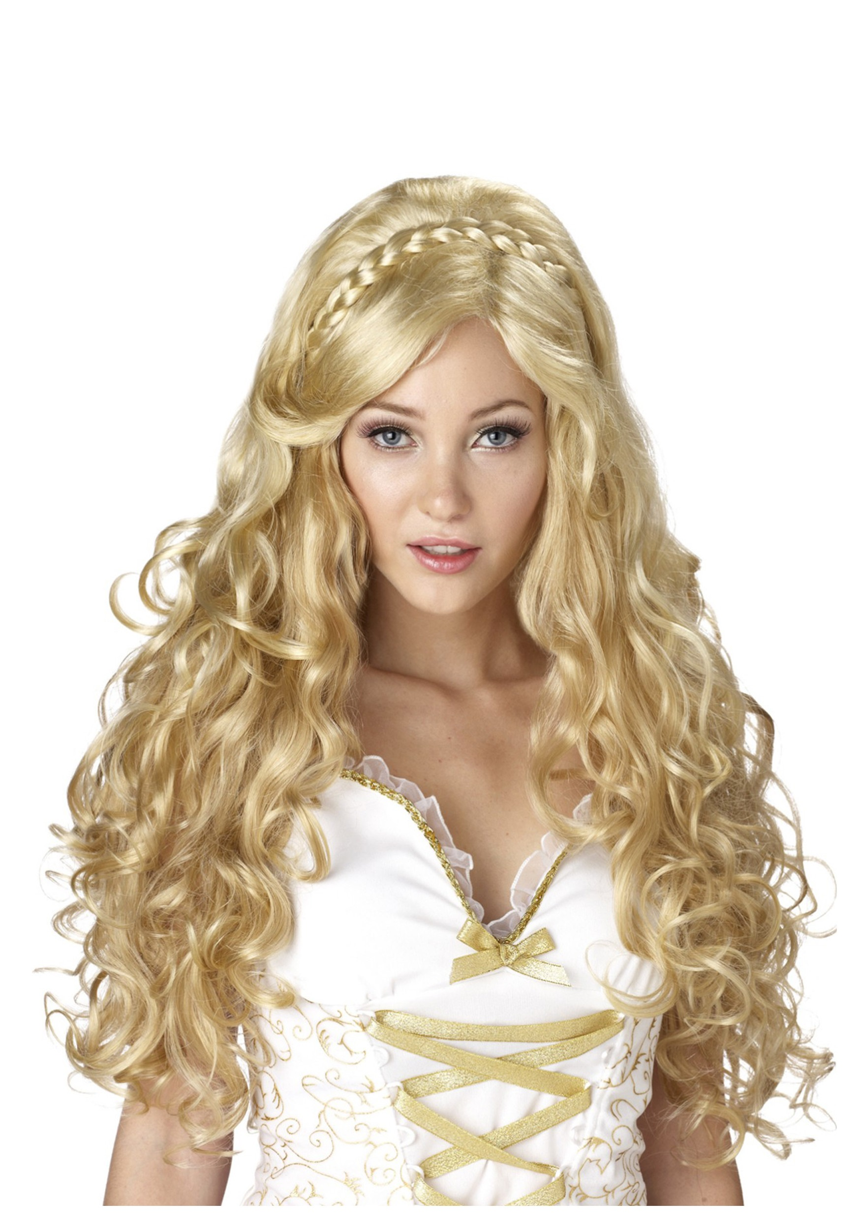 Women s Blonde Goldilocks Goddess Wig f2cf6db622