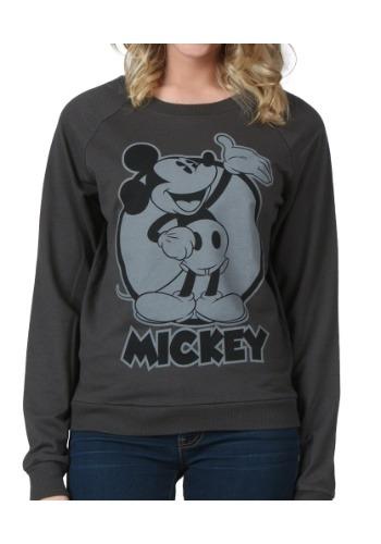 Women's Mickey Mouse Black & White Sweatshirt