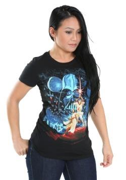 Star Wars Classic Vintage Black Juniors T-Shirt