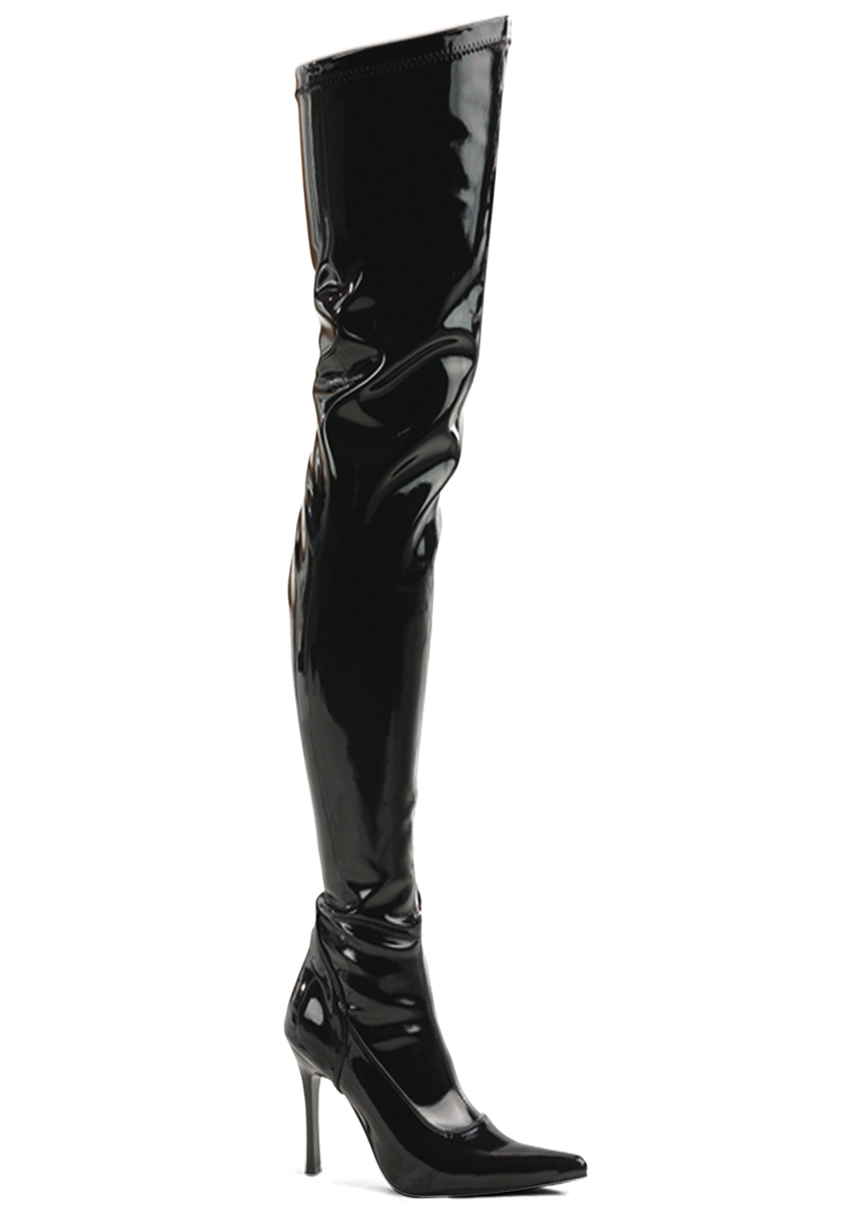 70caa93d53c Black Patent Over the Knee Costume Boot for Women