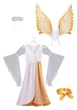 Girls Guardian Angel Costume Alt 8
