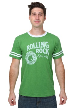 Rolling Rock Mens Kelly/White T-Shirt
