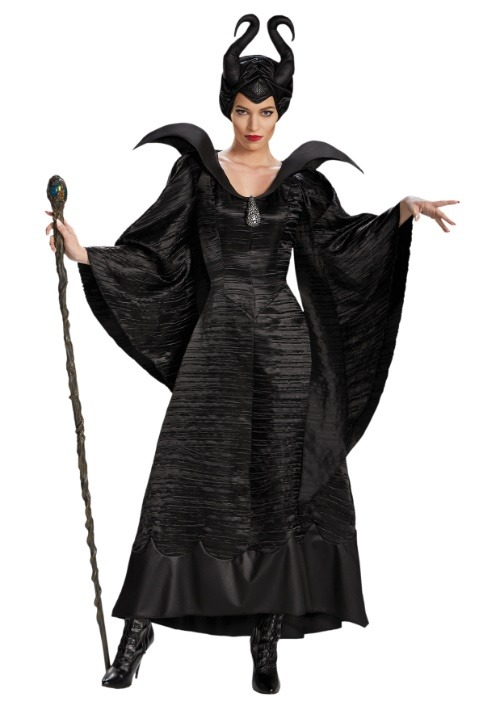 Maleficent Christening Deluxe Womens Black Gown