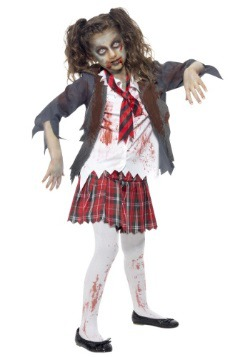 Girls Zombie School Girl Costume