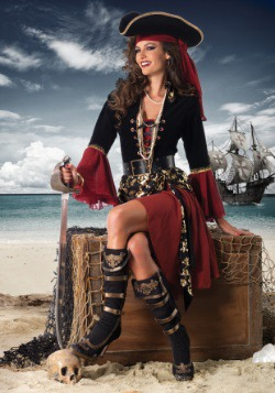 Women's Cruel Seas Captain Costume3