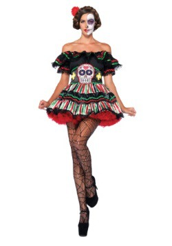 Day of the Dead Doll Costume For Adult's