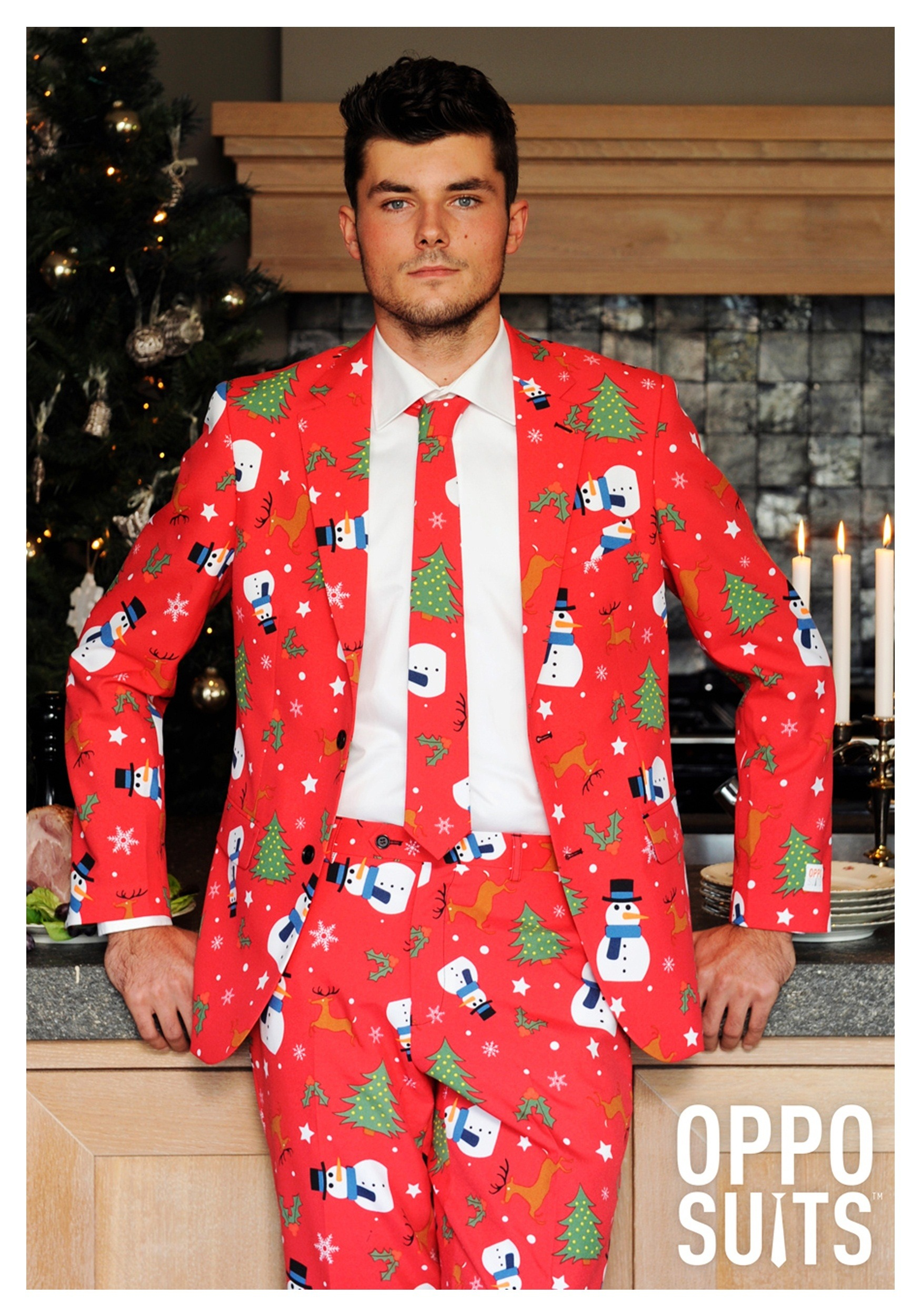 Men S Red Christmas Costume Suit