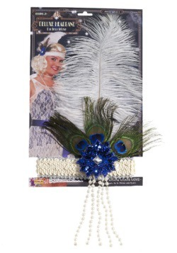Peacock Flapper Headband 1
