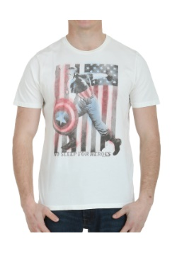 Captain America No Sleep For Heroes T-Shirt