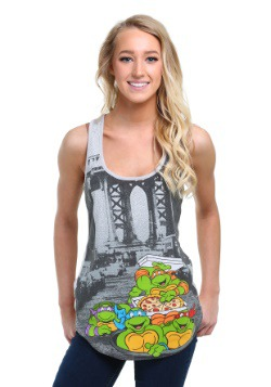 TMNT Pizza Turtle Juniors Tank Top