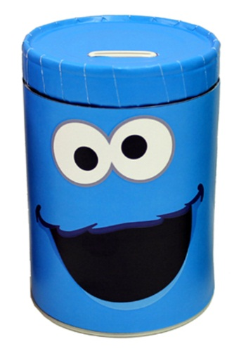 Cookie Monster Tin Bank